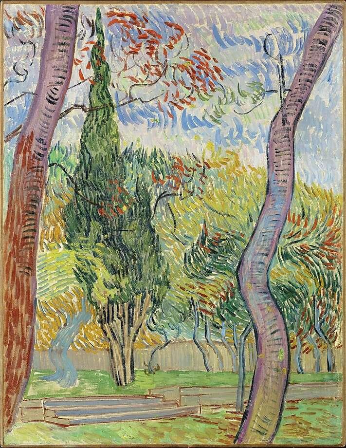 """""""The Park of the Hospital Saint-Paul"""" (1889) oil on canvas by Vincent van Gogh  25.25"""" x 19.25"""" Photo: The European Fine Art Fair"""