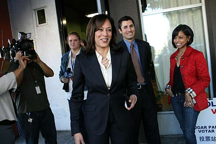 San Francisco District Attorney and California Attorney General candidate, Kamala Harris, exits her precinct after voting Tuesday, November 2, 2010. Photo: Erin Lubin, Special To The Chronicle