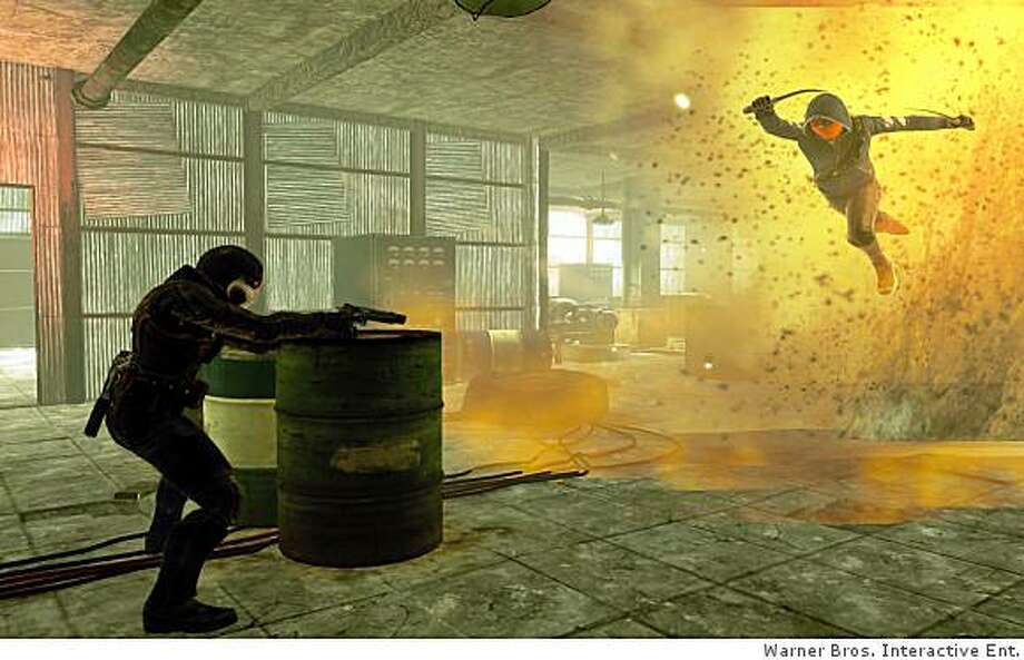 The pyrotechnics are nicely done, if a bit repetitive in Wanted: Weapons of Fate. Photo: Warner Bros. Interactive Ent.