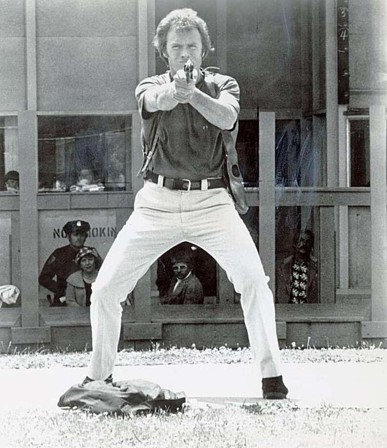 "DIRTYHARRY01_PH3.jpg  Clint Eastwood in ""Magnum Force"" (1973)  Warner Bros./ Chronicle Archive Photo: Warner Bros., Chronicle Archive"