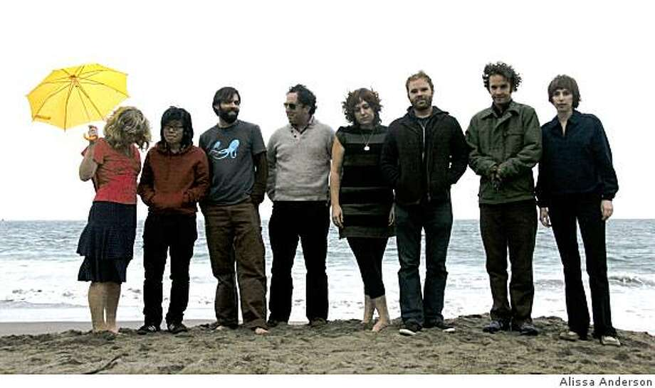 An incarnation of Citay, featuring members (L to R) April Haley, Adria Otte, Diego Gonzalez, Ezra Feinberg, Tahlia Harbour, Jesse Reiner, Warren Huegel and Julie Napolin Photo: Alissa Anderson