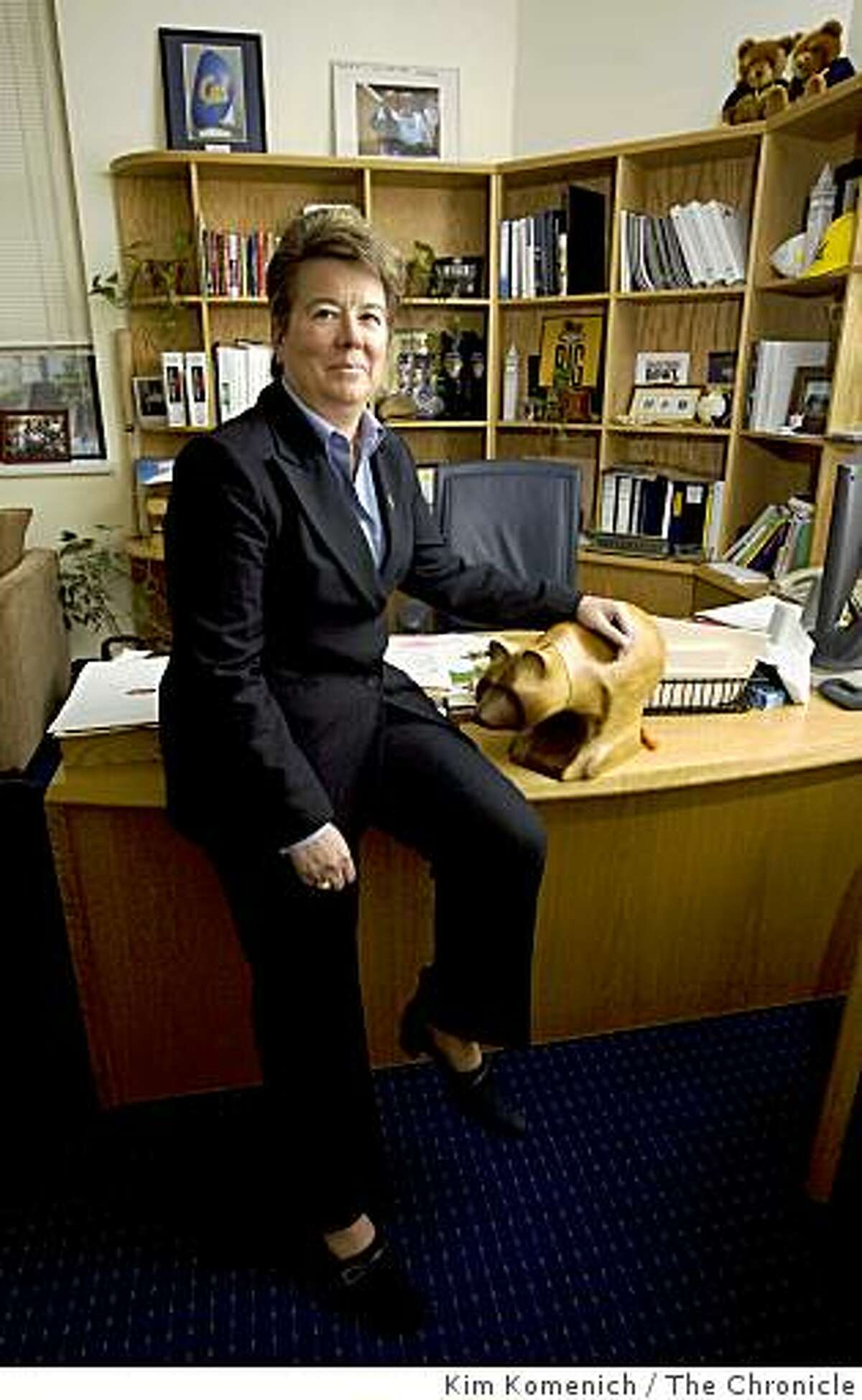 Cal Athletic Director Sandy Barbour sits in her office in Haas Pavilion in Berkeley, Calif., on Tuesday, Mar. 3, 2009.