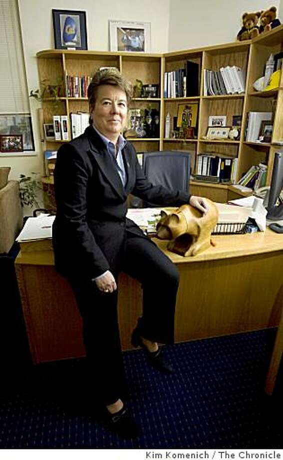 Cal Athletic Director Sandy Barbour sits in her office in Haas Pavilion in Berkeley, Calif., on Tuesday, Mar. 3, 2009. Photo: Kim Komenich, The Chronicle