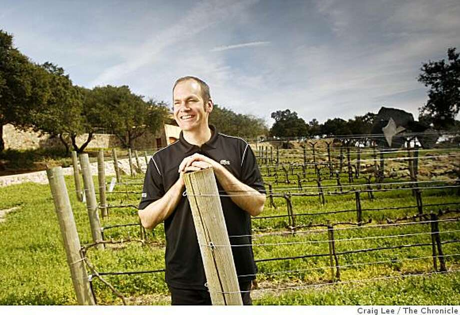 Aaron Pott, winemaker at Seven Stones winery, a tiny boutique project near Meadowood, in St. Helena, Calif., on March 18, 2009. Photo: Craig Lee, The Chronicle