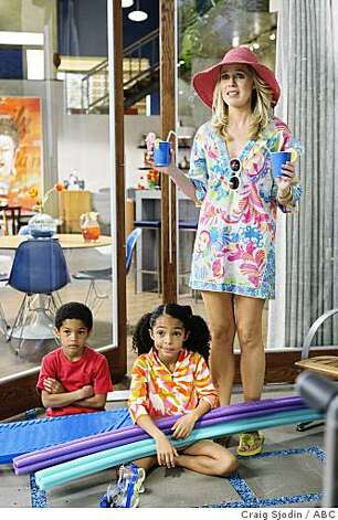 "IN THE MOTHERHOOD - ""Vacation"" - Jane's vacation week alone with baby Sophie turns out to be anything but relaxing, Rosemary tries to unionize Horatio's fellow nannies to help them get the perks they deserve, and Emily and Jason's ""stay-cation"" at home gets a thumbs-down from their kids, on ""In the Motherhood,"" THURSDAY, APRIL 2 (8:00-8:30 p.m., ET) on the ABC Television Network. (ABC/CRAIG SJODIN)SAYEED SHAHIDI, CHARLOTTE FOLEY, JESSICA ST. CLAIR Photo: Craig Sjodin, ABC"