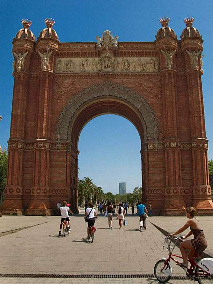 Arc de Triomphe at the entrance to Parc de la Cuitadella in Barcelona, Spain. Photo: Chris Hardy, Special To The Chronicle