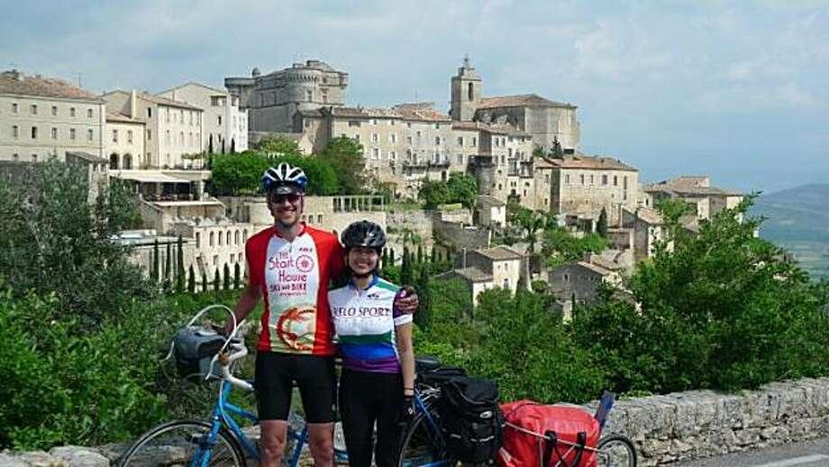 Eric and Tarina Larsen of Albany in Gordes, France. Photo: *