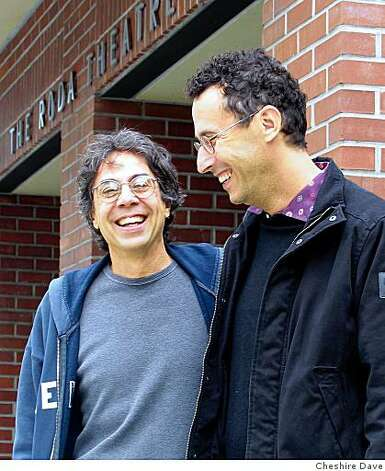 Tony Taccone (left), artistic director of Berkeley Repertory Theatre, and playwright Tony Kushner, in front of Berkeley Rep Photo: Cheshire Dave