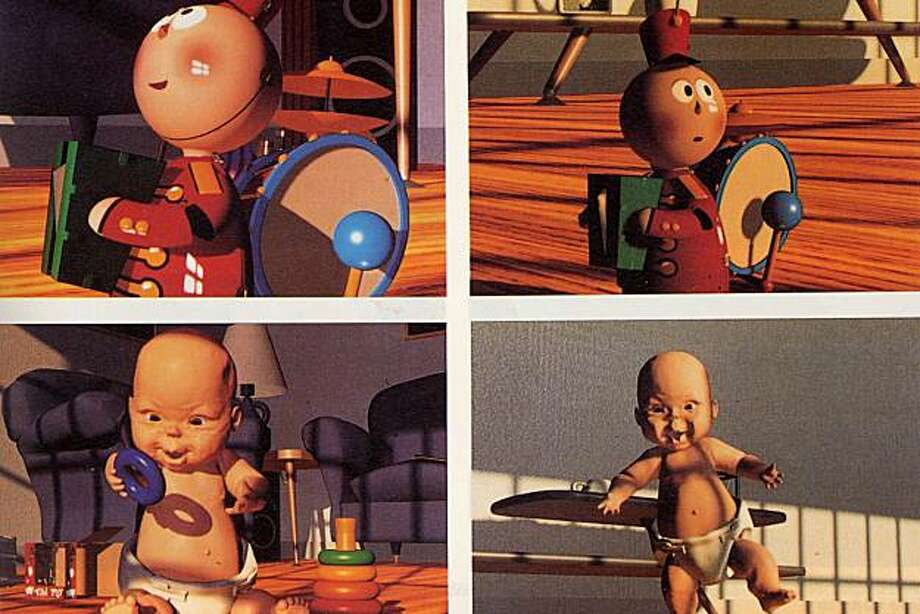 "Scenes from ""Tin Toy,"" which won the animated short Oscar in 1988 for Pixar's John Lasseter. Photo: Pixar 1988"