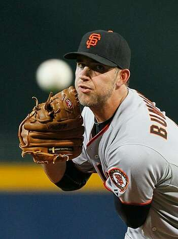 ATLANTA - OCTOBER 11:  Starting pitcher Madison Bumgarner #40 of the San Francisco Giants pitches in the first inning to the Atlanta Braves during Game Four of the NLDS of the 2010 MLB Playoffs at Turner Field on October 11, 2010 in Atlanta, Georgia. Photo: Kevin C. Cox, Getty Images