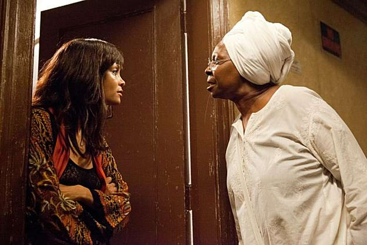 In this film publicity image released by Lionsgate, Thandie Newton, left, and Whoopi Goldberg are shown in a scene from,
