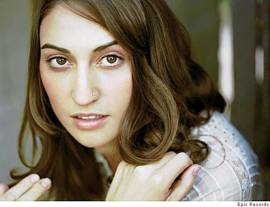 Grammy-nominated singer-songwriter Sara Bareilles headlines at Cafe Du Nord, Mar 5-7, 2009. Photo: Epic Records