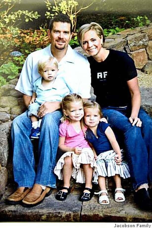 A photo supplied by the Jacobson family shows Dr. Jacobson, his wife Amy and their three children: Jude, Taylor and Ava. Photo: Jacobson Family