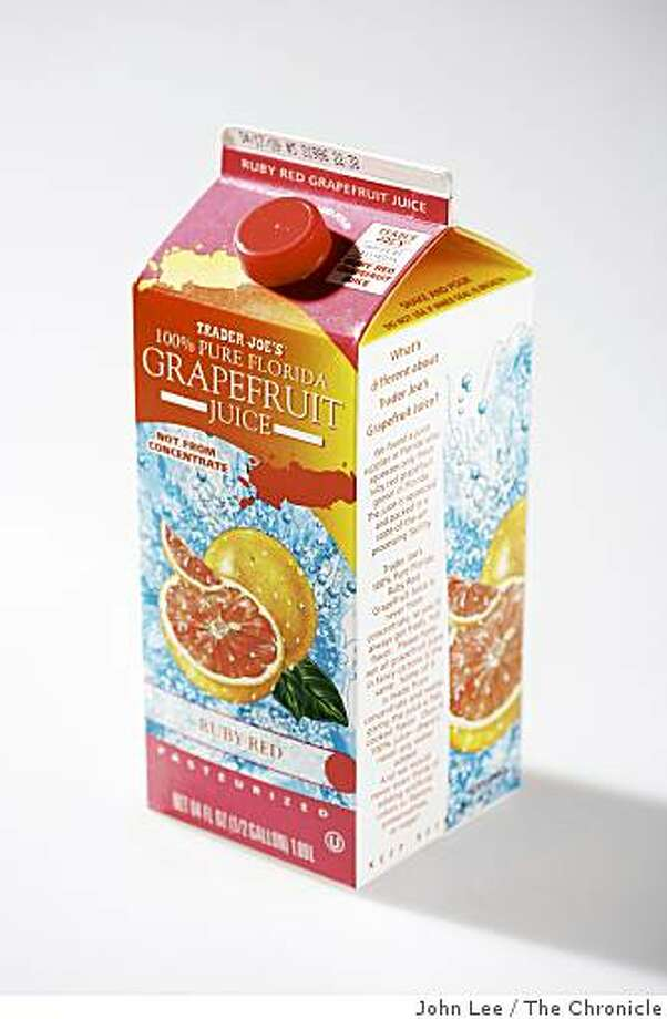 TASTE12_JOHNLEE.JPG Trader Joe's Grapefruit Juice.By JOHN LEE/SPECIAL TO THE CHRONICLE Photo: John Lee, The Chronicle