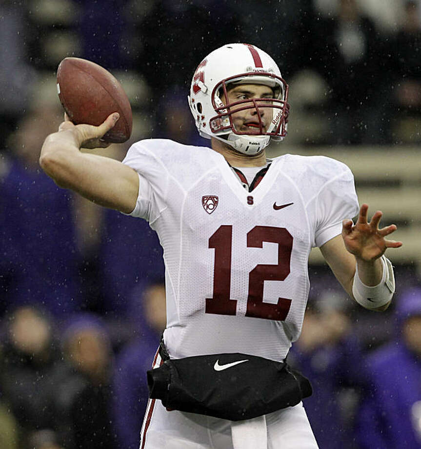Stanford quarterback Andrew Luck throws against Washington in the first half during an NCAA college football game Saturday, Oct. 30, 2010, in Seattle. Photo: Elaine Thompson, AP