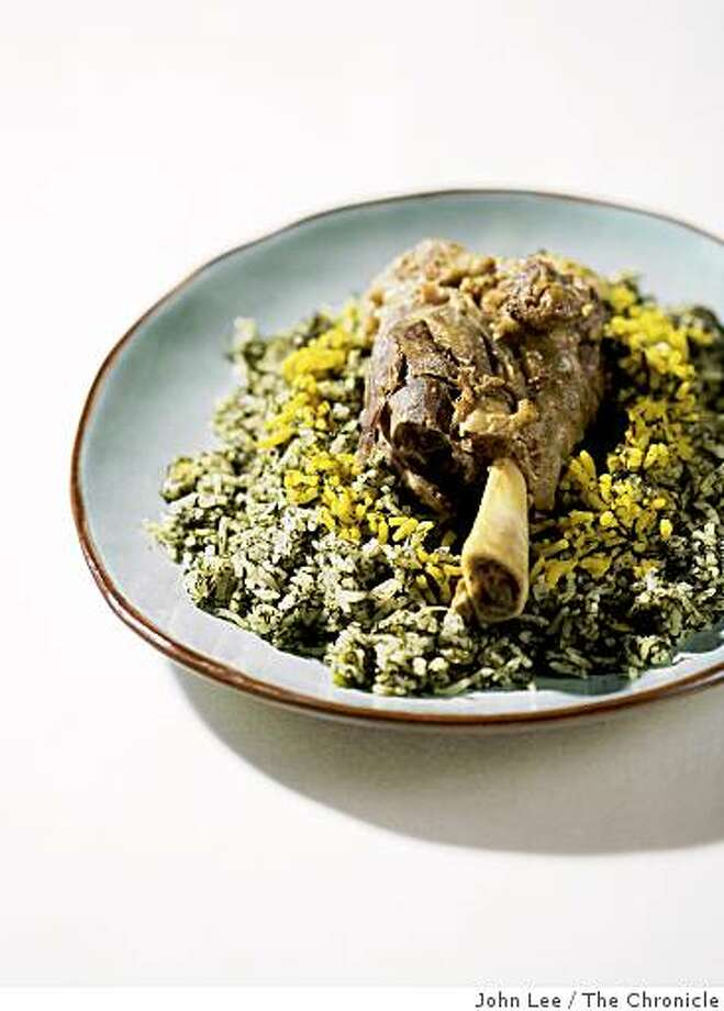 PERSIAN22_01_JOHNLEE.JPG Dill-Fava Bean Rice with Lamb Shanks.By JOHN LEE/SPECIAL TO THE CHRONICLE Photo: John Lee, The Chronicle