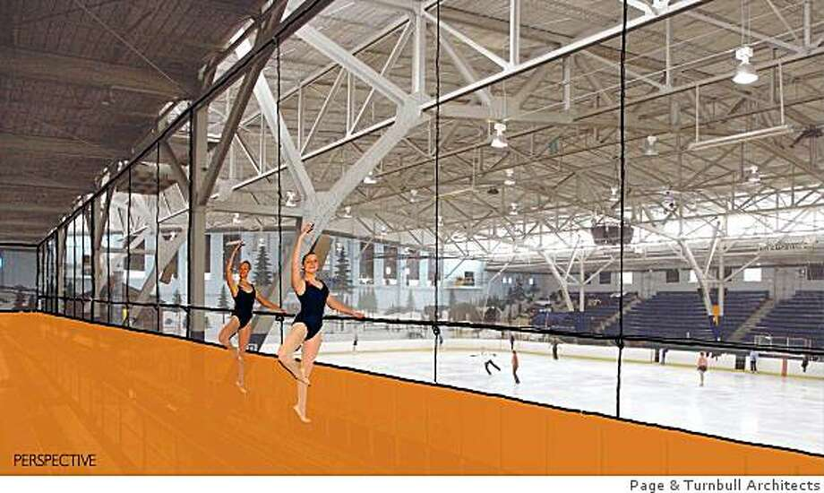 This undated rendering shows a proposed new room at the Berkeley Iceland skating rink in Berkeley, Calif. Berkeley Iceland, one of the oldest and largest skate rinks in the Bay Area, closed in March 2007 after the owners and the City of Berkeley failed to resolve a dispute over the facility�s 70-year-old refrigeration unit, which leaked toxic quantities of ammonia. Photo: Page & Turnbull Architects