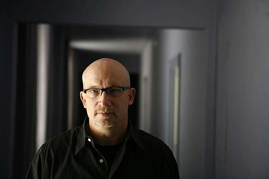 """Oscar-winning documentarian, Alex Gibney, who has a new documentary about Huner S. Thompson called """"Gonzo"""", poses for a portrait at the Clift Hotel on Thursday, May, 8, 2008 in San Francisco, Calif.   Photo by Mike Kepka / San Francisco Chronicle Photo: Mike Kepka, SFC"""