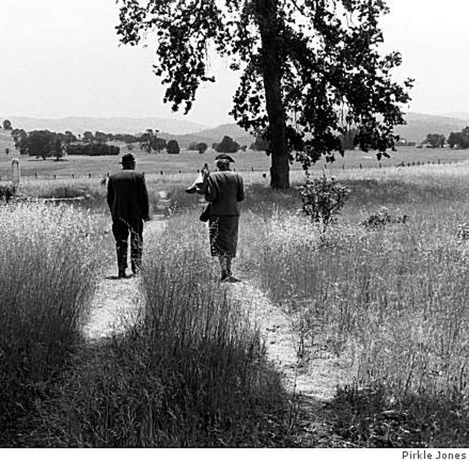 """""""Last Memorial Day,""""  a photo by Pirkle Jones from the 2008 Napa Valley Museum exhibition """"Berryessa  Valley: The Last Year,"""" was shot in 1956 in the town of Monticello just before Lake Berryessa was created. Photo: Pirkle Jones"""