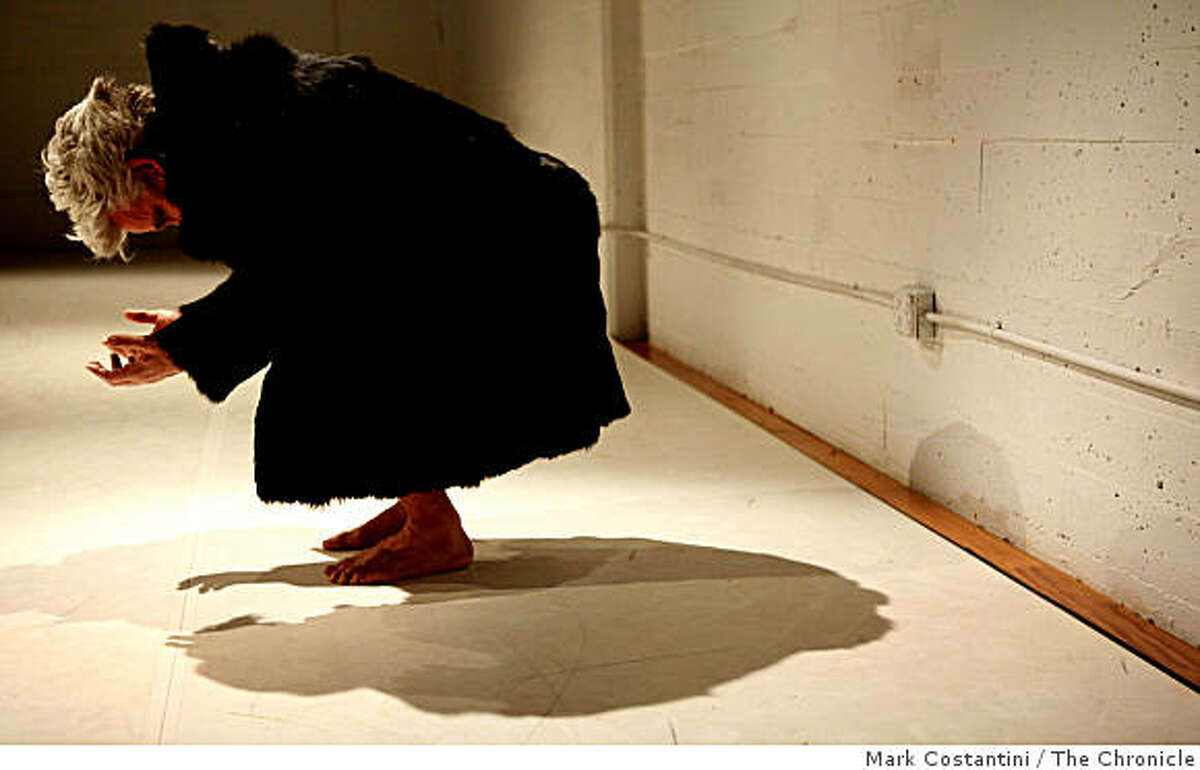 Jess Curtis performs in Counterpulse in San Francisco, Calif. on Wednesday, March 187, 2009