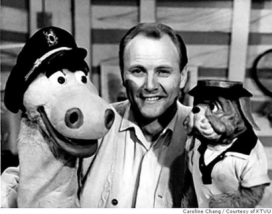 """Pat McCormick, Bay Area broadcast legend, with puppet his characters, """"Charlie and Humphrey"""". One time use only for 96 hours, March 19, 2009. OK to post on gate. Photo: Caroline Chang, Courtesy Of KTVU"""