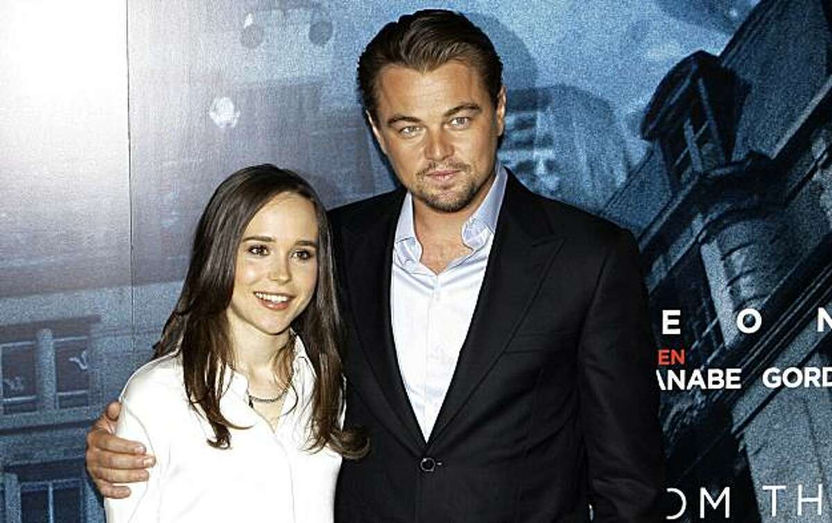 U.S actors, Ellen Page and Leonardo DiCaprio pose during a photo call at the Dorchester Hotel in London, for their film Inception, Wednesday, July 7, 2010.