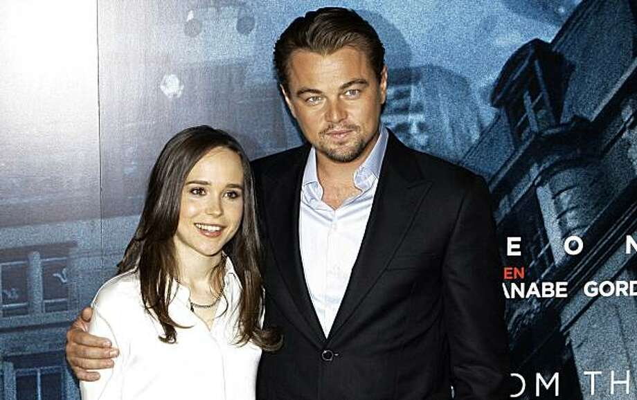 U.S actors, Ellen Page and Leonardo DiCaprio pose during a photo call at the Dorchester Hotel in London, for their film Inception, Wednesday, July 7, 2010. Photo: Joel Ryan, AP