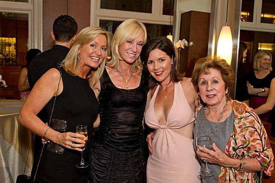 From left: Kristine Carlson, Alana Leigh, Dana Dowell and Jeannie Dowell at the salon opening. Photo: Drew Altizer