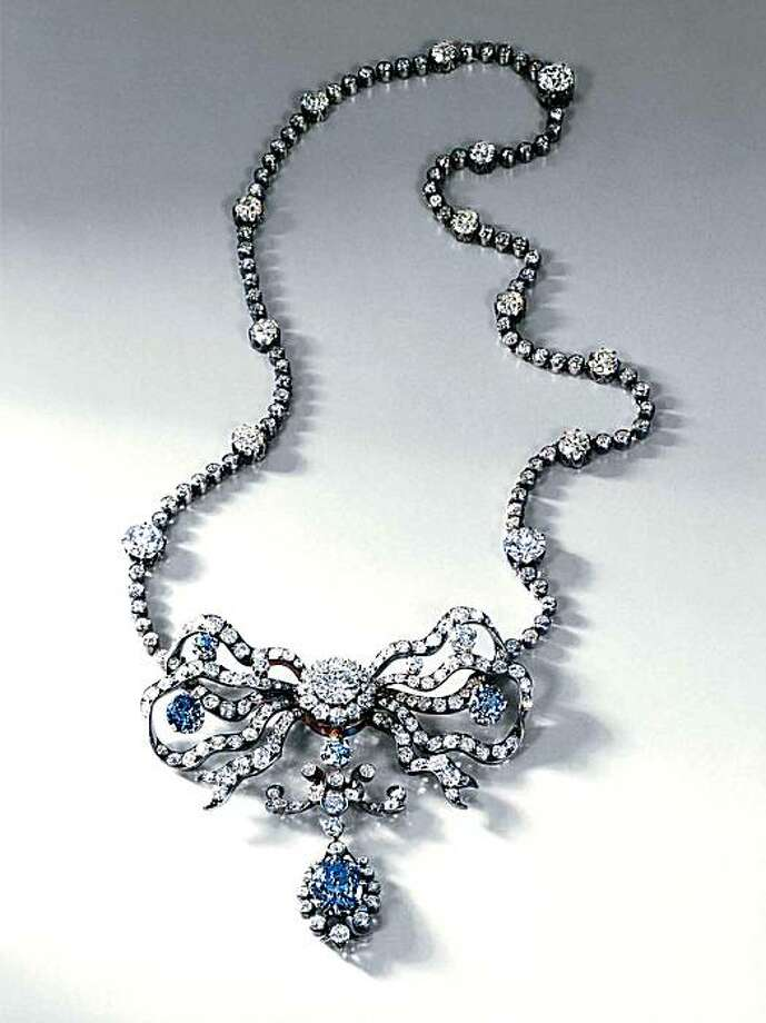 The Cullinan Blue Diamond necklace. Photo: Ronnie Tsai