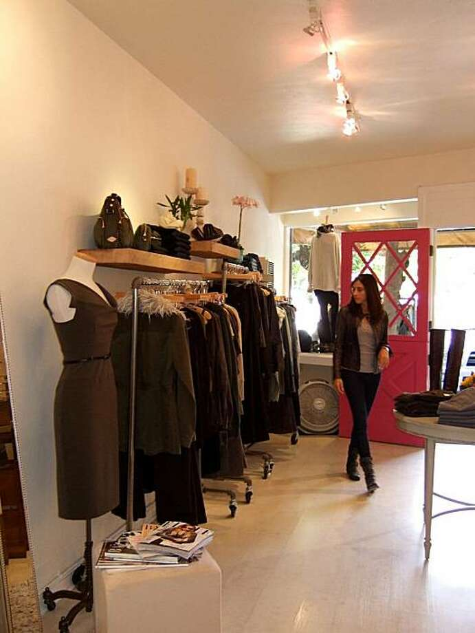 Carolina Boutique in Mill Valley is a womenswear boutique owned by Carolina Loiacono, in front of store. Photo: Laura Compton