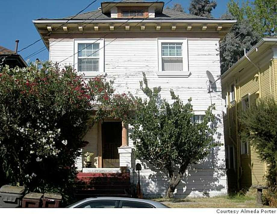 Almeda Porter's century-old Classic  Box home in Oakland's Adams Point neighborhood was completely rennovated, making use of more than $100,000 of non-interest loans. This is the before photo. Photo: Courtesy Almeda Porter
