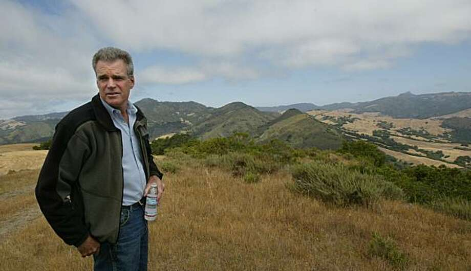 Roger Lyons the land use attorney for the Hearst corp on top of one of the redges on the Hearst property. This story on the Hearst Ranch conservancy deal is the second part of the piece on Central Coast conservancies, which are conjoining to protect a huge swatch of land south from Carmel to Morro Bay, and east to the Salinas Valley.  82,000 acre San Simeon ranch, most of which is about to be locked up in conservation easements in exchange for some development at San Simeon Point. There's a lot of support for the plan, but some enviros are balking, claiming it affords too much leeway to the corporation in terms of future land conversions--that is, a hotel at San Simeon point, and perhaps some significant ranchette and vineyard developments. Photo: Kurt Rogers, The Chronicle
