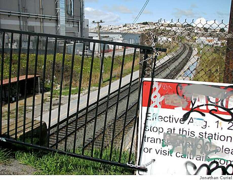 defunct CalTrain Station adjacent to 200 Paul Avenue in San Francisco. Photo: Jonathan Curiel
