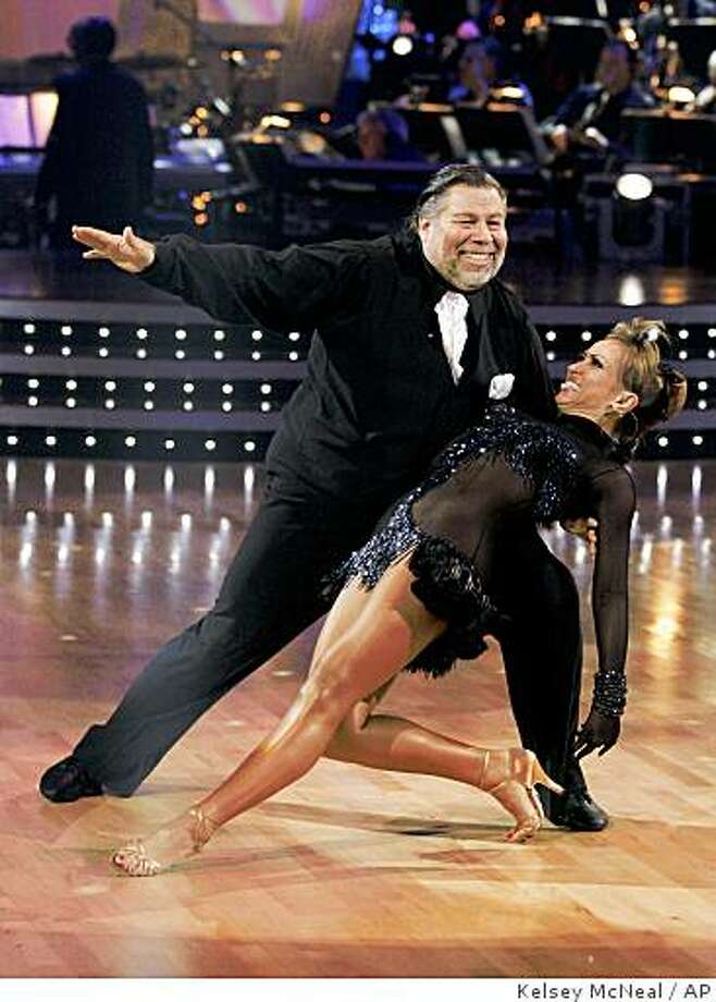 "In this image released by ABC, Steve Wozniak and his partner, Karina Smirnoff, perform on the celebrity dance competition series ""Dancing with the Stars"" March 9 in Los Angeles. Photo: Kelsey McNeal, AP"
