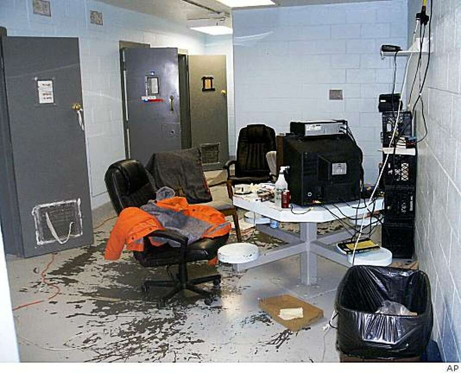 This undated handout photo provided by the Montague County Sheriff shows a trustee holding area of the Montague County jail in Montague,Texas, before it was refurbished. Sheriff Paul Cunningham said he was stunned while touring the jail for the first time just hours after being sworn into office Jan. 1, 2009. Among other things, he saw what appeared to be a rack made of nails, paper towel partitions that blocked jailers' views into cells and pills scattered openly about. Cunningham, who had not worked for the county before his November election, immediately ordered the jail closed and moved the nearly 60 inmates to a nearby facility. (AP Photo/Montague County Sheriff) Photo: AP