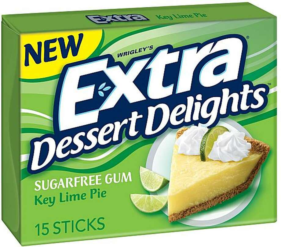 Wrigley's Extra Dessert Delights sugar-free gum, (Key Lime flavor) available in 15-stick pack or multiple 3-pack. Photo: N/a, Courtesy Wm. Wrigley Jr. Company