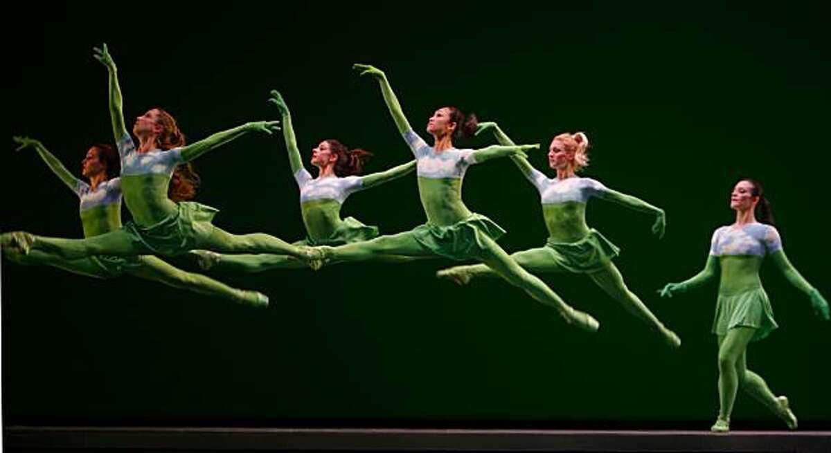 The San Francisco Ballet performs SANDPAPER BALLET from Program 5 on Friday Mar 13, 2009 in San Francisco , Calif