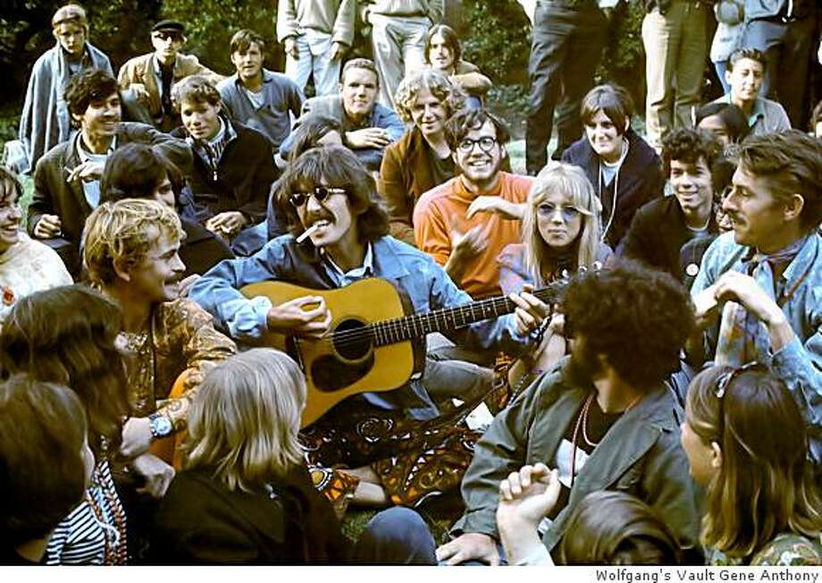 Photo of George Harrison and Pattie Boyd in Golden Gate Park by Gene Anthony Courtesy of Wolfgang?s Vault. Photo: Wolfgang's Vault Gene Anthony