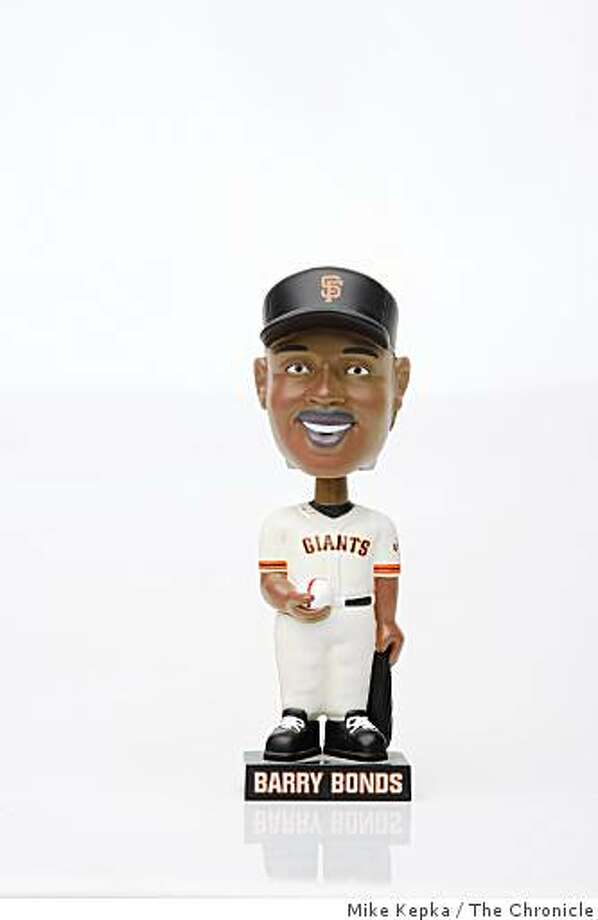 The Barry Bonds bobblehead, part of a series of vintage San Francisco Giants bobbleheads was photographed on Thursday July 17, 2008 in San Francisco, Calif. Photo by Mike Kepka / The Chronicle Photo: Mike Kepka, The Chronicle
