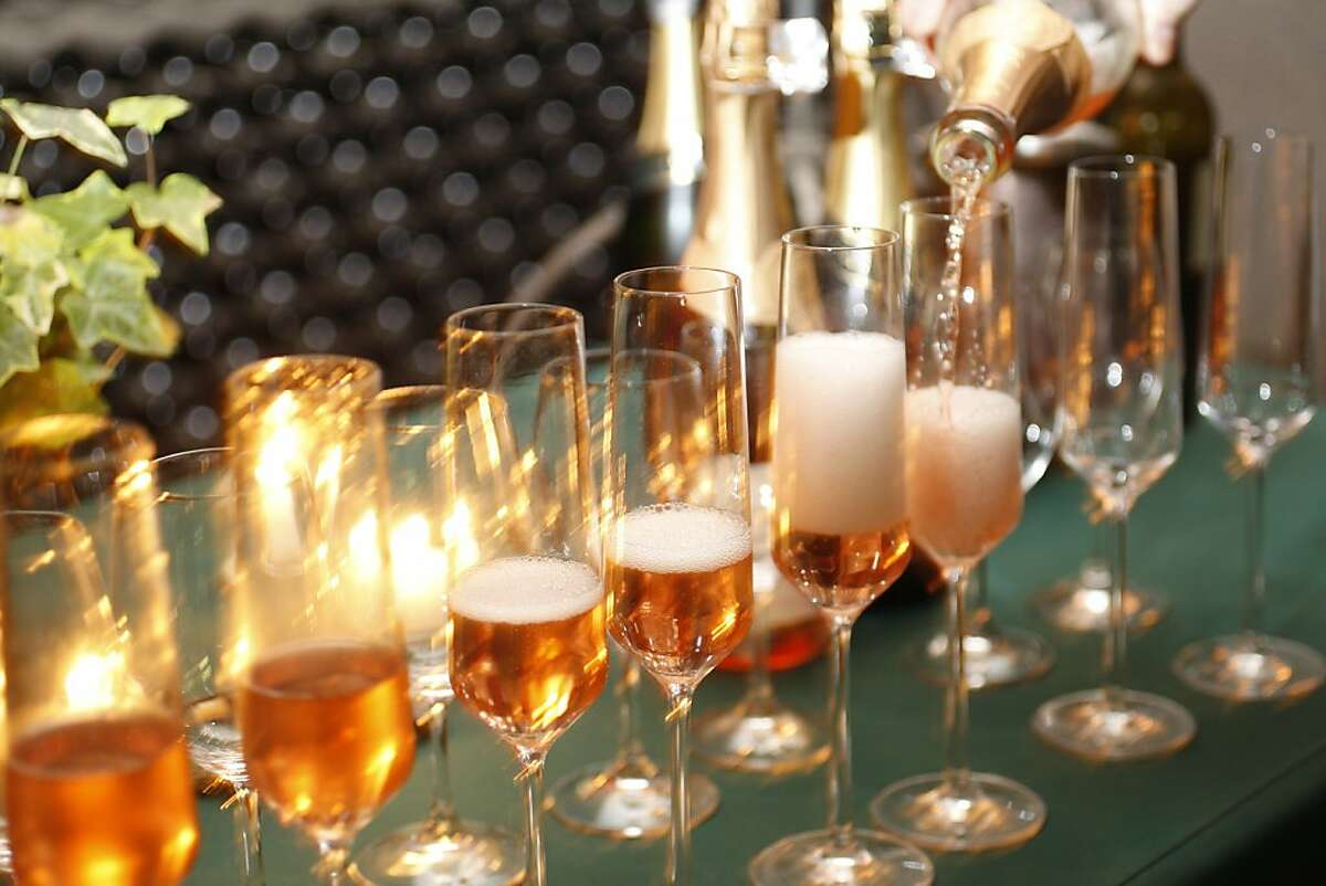 Schramsberg Brut Rose poured at their taste room in Calistoga.