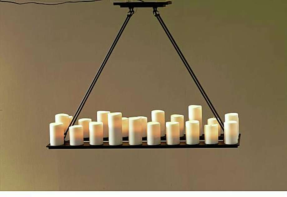 *Pillar Candle Chandelier*Restoration Hardware*58-3/4-by-14 inches$1,450