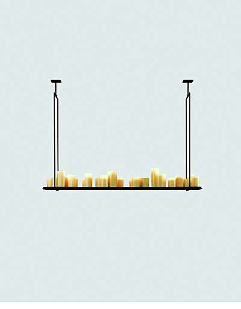Pillar candle chandelier sfgate altar hanging lightholly hunt lighting58 by 14 inches13050 arubaitofo Choice Image
