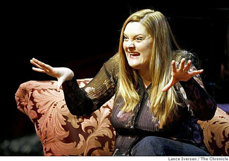 "Megan Cavanagh a TV and film actress is now staring as the musical lead in ""High Spirits,"" at the Eureka Theatre, 215 Jackson St in San Francisco. between Battery and Davis streets. She plays an eccentric, bicycle-riding, seance-conducting medium, Madame Arcati. The show is a musical version of Noel Coward's ""Blithe Spirit"" and the same character was in the past played by Margaret Rutherford, Beatrice Lillie, Geraldine Page and Angela Lansbury.Thursday, March 12, 2009. Photo: Lance Iversen, The Chronicle"