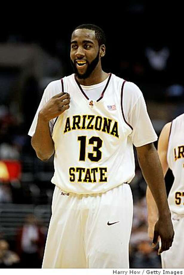 James Harden in his playing days with the Arizona State Sun Devils. Photo: Harry How, Getty Images
