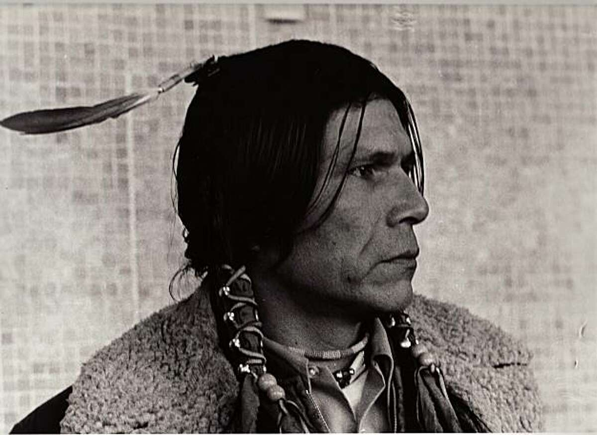 """A portrait of Dennis Banks from """"A Good Day to Die,"""" a documentary by David Mueller and Lynn Salt."""