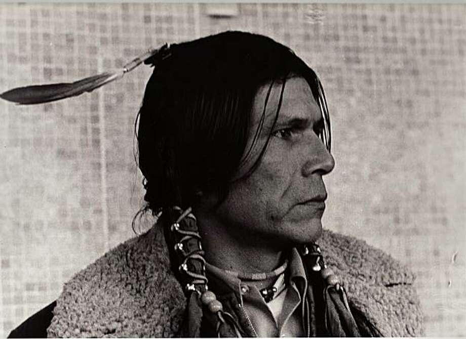 """A portrait of Dennis Banks from """"A Good Day to Die,"""" a documentary by David Mueller and Lynn Salt. Photo: Michelle Vignes"""