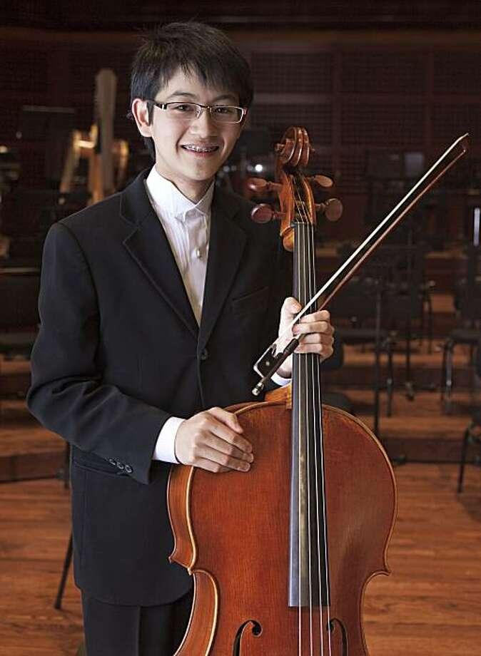 Cellist Nathan Chan Photo: San Francisco Symphony