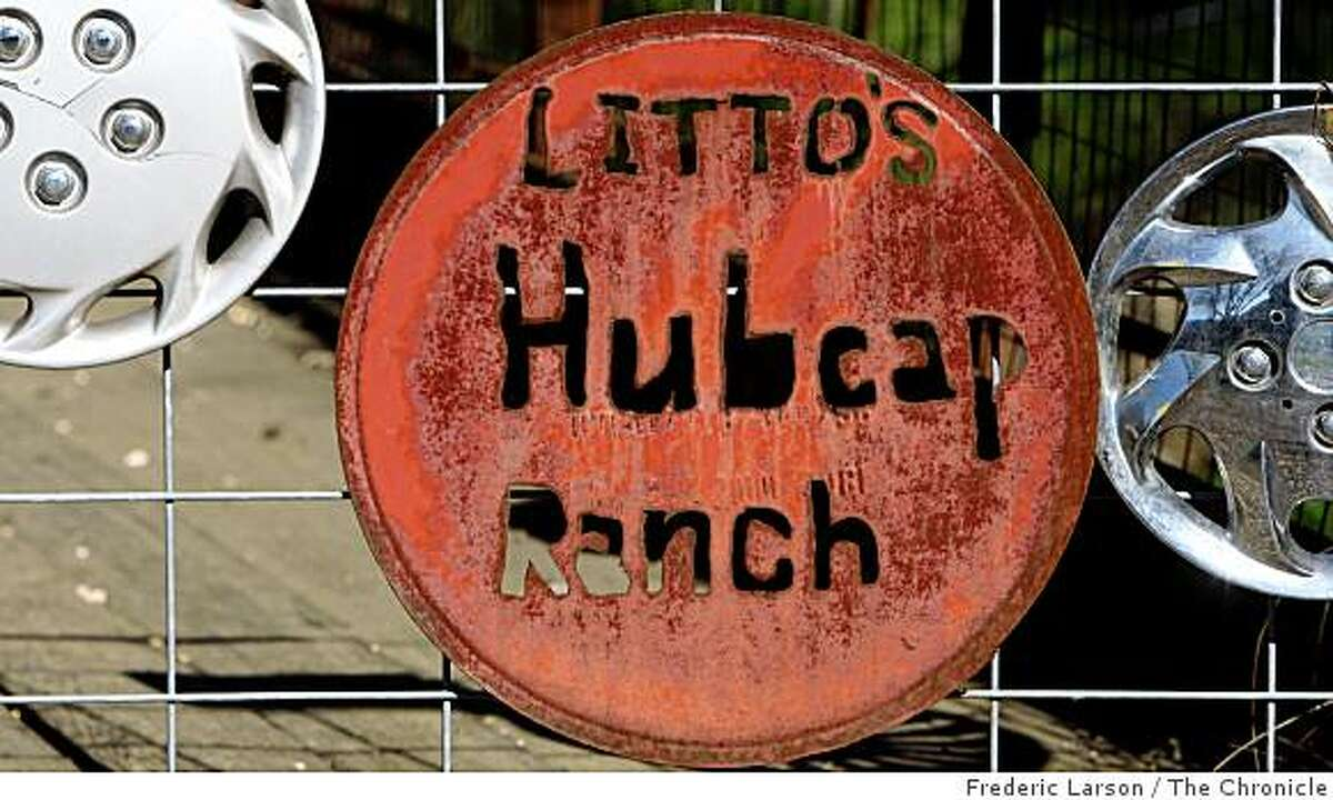 Three generations of Napa County family have been collecting hubcaps on their Pope Valley ranch. They now have 5,000 and it's become a quirky roadside attrcation. People make pilgrimiges with sacks of hupcaps.