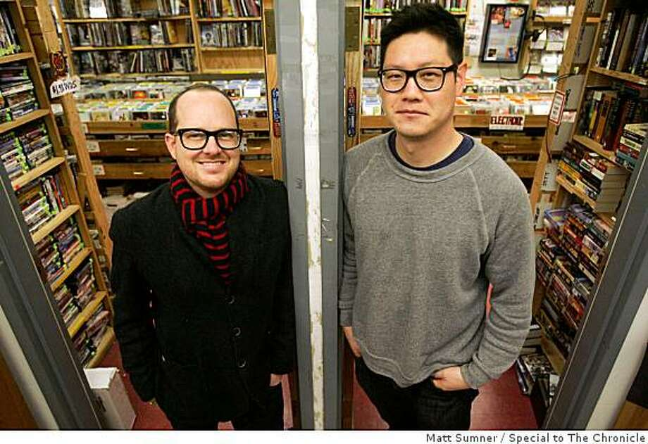 Jaime Alexander, left, and Derek Song, owners of Park Life store and gallery, named the Green Apple Books annex one their favorites spots around the Bay Area on Friday, Feb. 13, 2009 at  in San Francisco, Calif. Photo: Matt Sumner, Special To The Chronicle