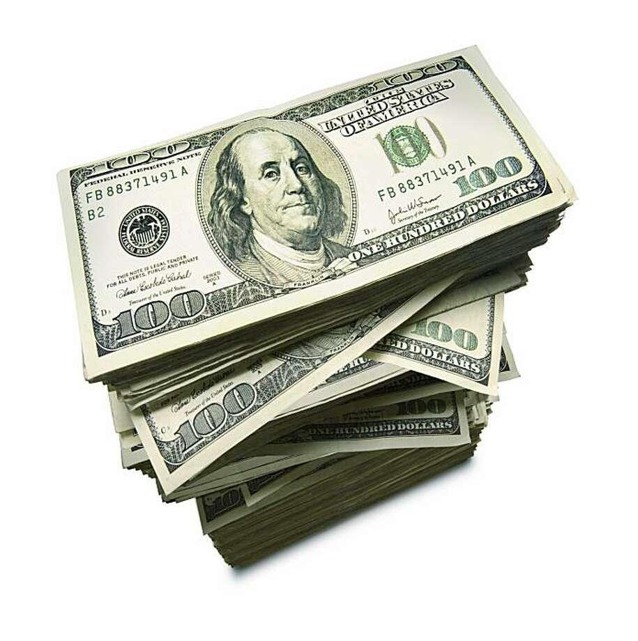 Hundred dollar bills stack Photo: IStockPhoto.com